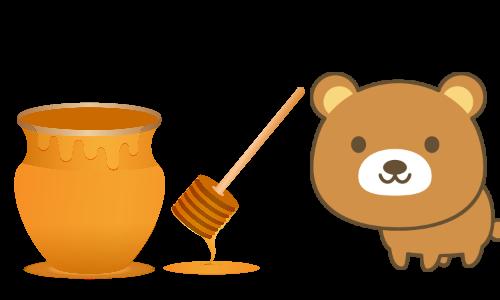 クマもハチミツ大好き!?