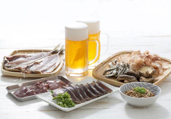 ビールと魚